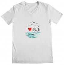 I Love - Woman's V Neck T-Shirt