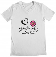Flower & Heart - Woman's V Neck T-Shirt