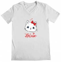 Cat - Woman's V Neck T-Shirt
