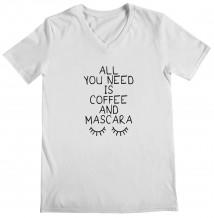 Eyelashes - Woman's V Neck T-Shirt