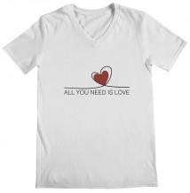 Heart - Woman's V Neck T-Shirt