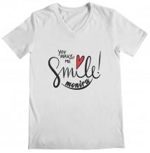 Smile - Woman's V Neck T-Shirt