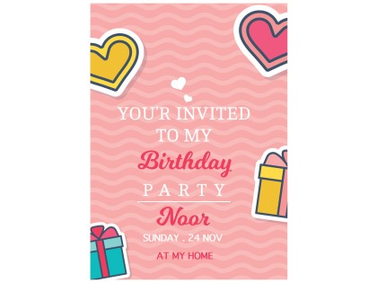 Birthday Invitation Card 25 Cards Envelops Bc515 English