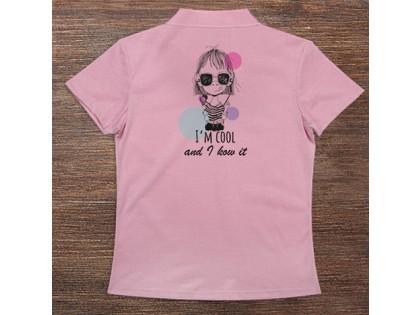 Woman\'s Polo T-Shirt Design ( Cool Girl )