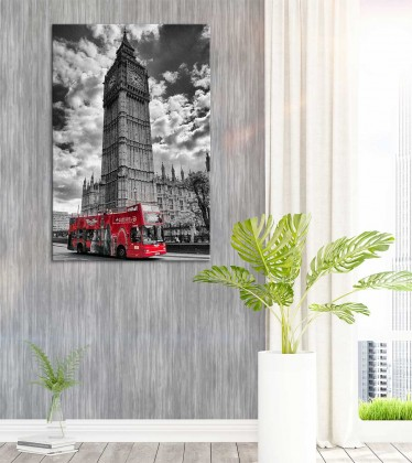 Canvas - London Bus by Yaser Behbehani