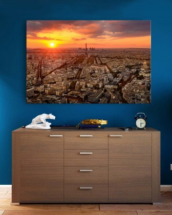 Canvas - Sun Set Of Paris by Mohammad Mirza