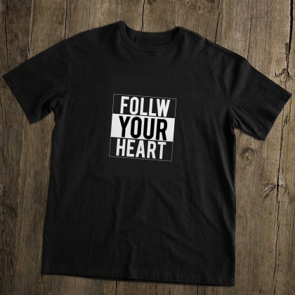 Men's T-Shirt Design ( Follow Your Heart ) - TS012