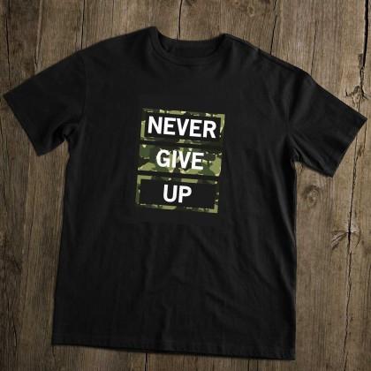 Men's T-Shirt Design ( Never Give Up ) - TS028