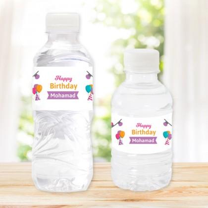 Pack of 20 Water Bottles Birthday I Design