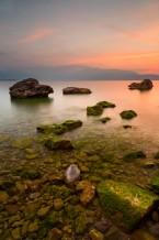 شروق الشمس على بحيرة غاردا