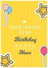 دعوة عيد ميلاد - 25 كرت و ظرف - BC514 إنجليزي