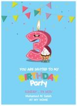 دعوة عيد ميلاد - 25 كرت و ظرف - BC005