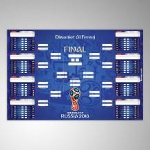 جدول مباريات كأس العالم 2018 تصميم أزرق