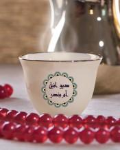 6 فناجين قهوة عربية تصميم ديكور أخضر