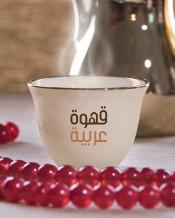 6 فناجين قهوة عربية تصميم كلمتين