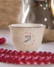 6 فناجين قهوة عربية تصميم دوائر ملونة