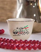 6 فناجين قهوة عربية تصميم دام عزك يا كويت