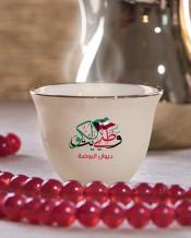 6 فناجين قهوة عربية تصميم وطني الكويت