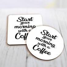 قاعدة كوب تصميم قهوة الصباح