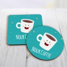 قاعدة كوب تصميم قهوة