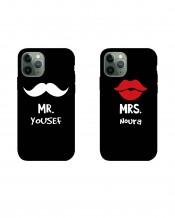 غطائين للهاتف تصميم السيد و السيدة - MC022