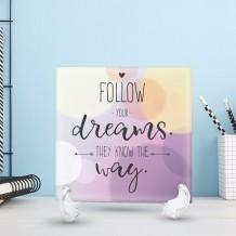 جملة على سيراميك تصميم Follow Your Dreams - CR003