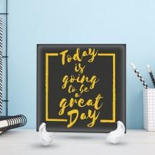 جملة على سيراميك تصميم Great Day - CR004