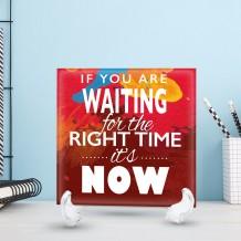 جملة على سيراميك تصميم Right Time - CR005