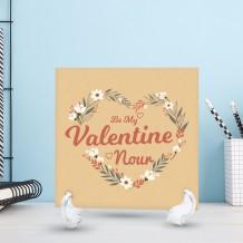 قطعة سيراميك تصميم قلب من الوروود