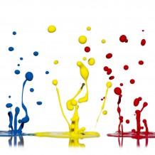 قطرات ملونة