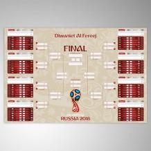 جدول مباريات كأس العالم 2018 تصميم ذهبي