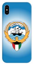غطاء ازرق للهاتف – شعار دولة الكويت