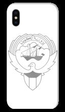 غطاء فضى للهاتف مع تصميم مخصص لشعار دولة الكويت