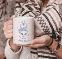 كوب تصميم أرنب مع قاعدة