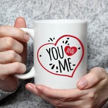 جملة على كوب (تصميم أنت و أنا) - MU049
