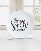 الاسم على طبق تصميم Smile - PL005