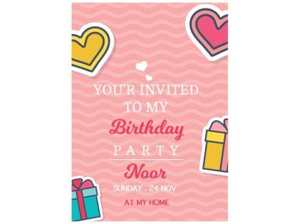 دعوة عيد ميلاد 25 كرت و ظرف Bc515 إنجليزي