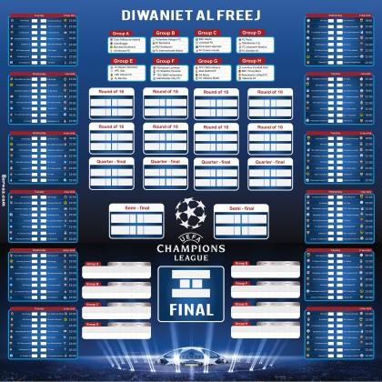 جدول مباريات دوري أبطال أوروبا 2018 تصميم V1