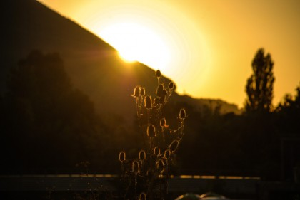 غروب الشمس في البوسنة