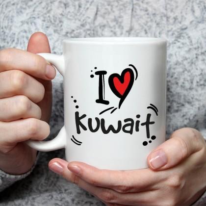 جملة على كوب I Love Kuwait - MU046