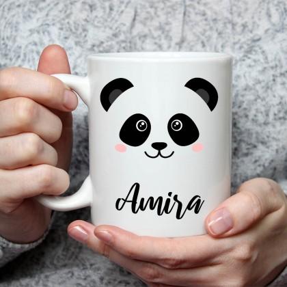 الاسم على كوب (تصميم الباندا) - MU026