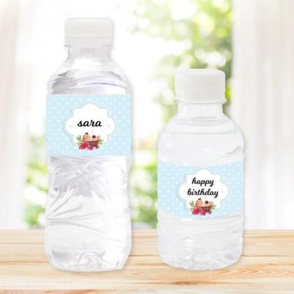 مجموعة من 20 زجاجة مياه تصميم عيد ميلاد III
